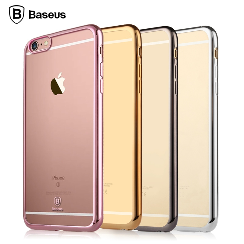 Baseus iPhone 6/6S Shining Case Transparent Black - 1
