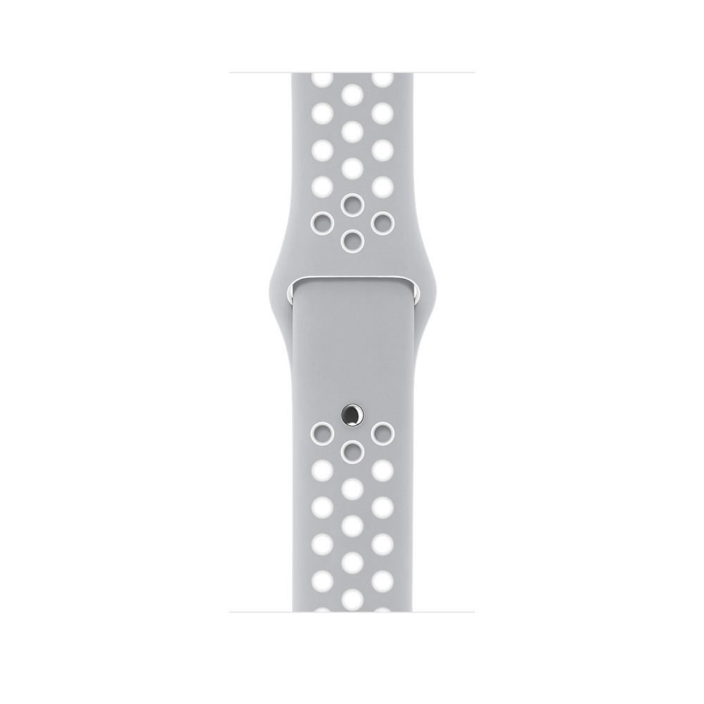 Apple Watch Nike+, 38 mm Silver Aluminum Case with Flat Silver/White Nike Sport Band MNNQ2 - 2