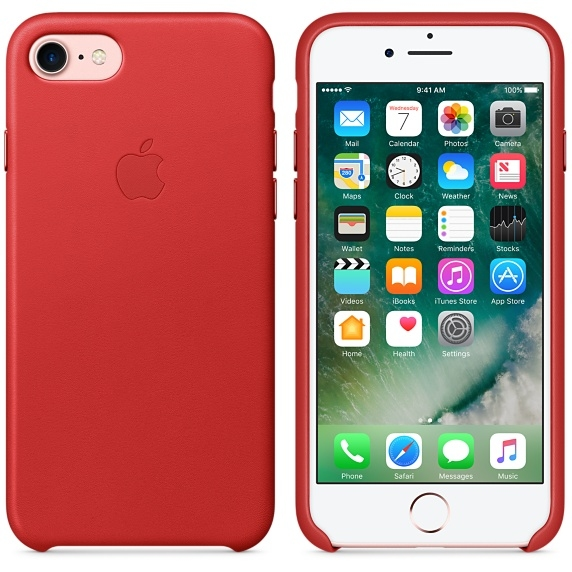 iPhone 7 Leather Case - (PRODUCT)RED  - 1