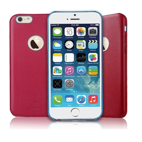 Накладка Baseus iPhone 6/6S Leather Thin Red - 1