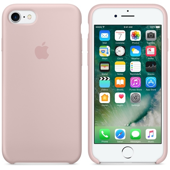 iPhone 7 Silicone Case - Pink Sand - 1