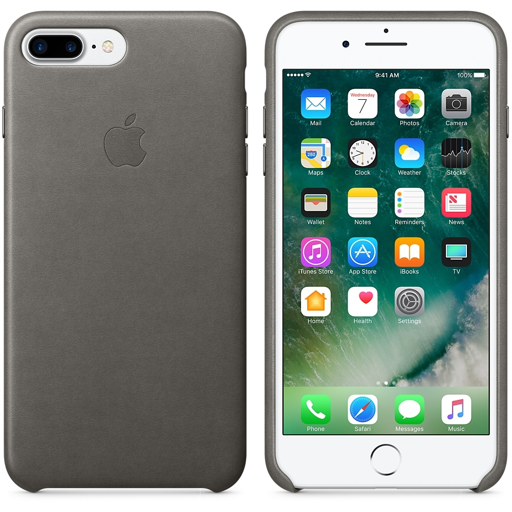 iPhone 7 Plus Leather Case - Storm Gray - 2