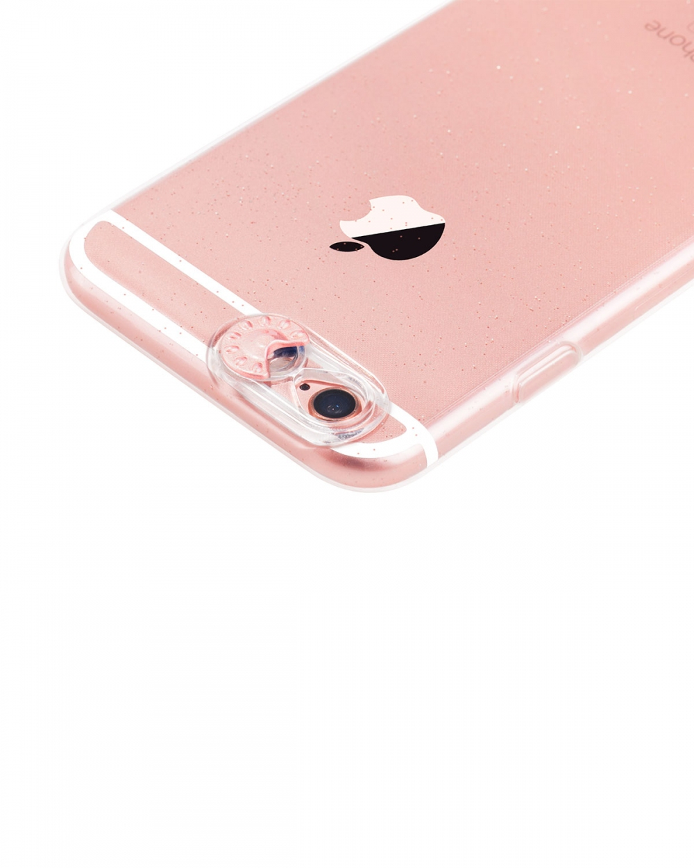 Colorful flash tpu for iPhone 6/6S Rose gold - 1