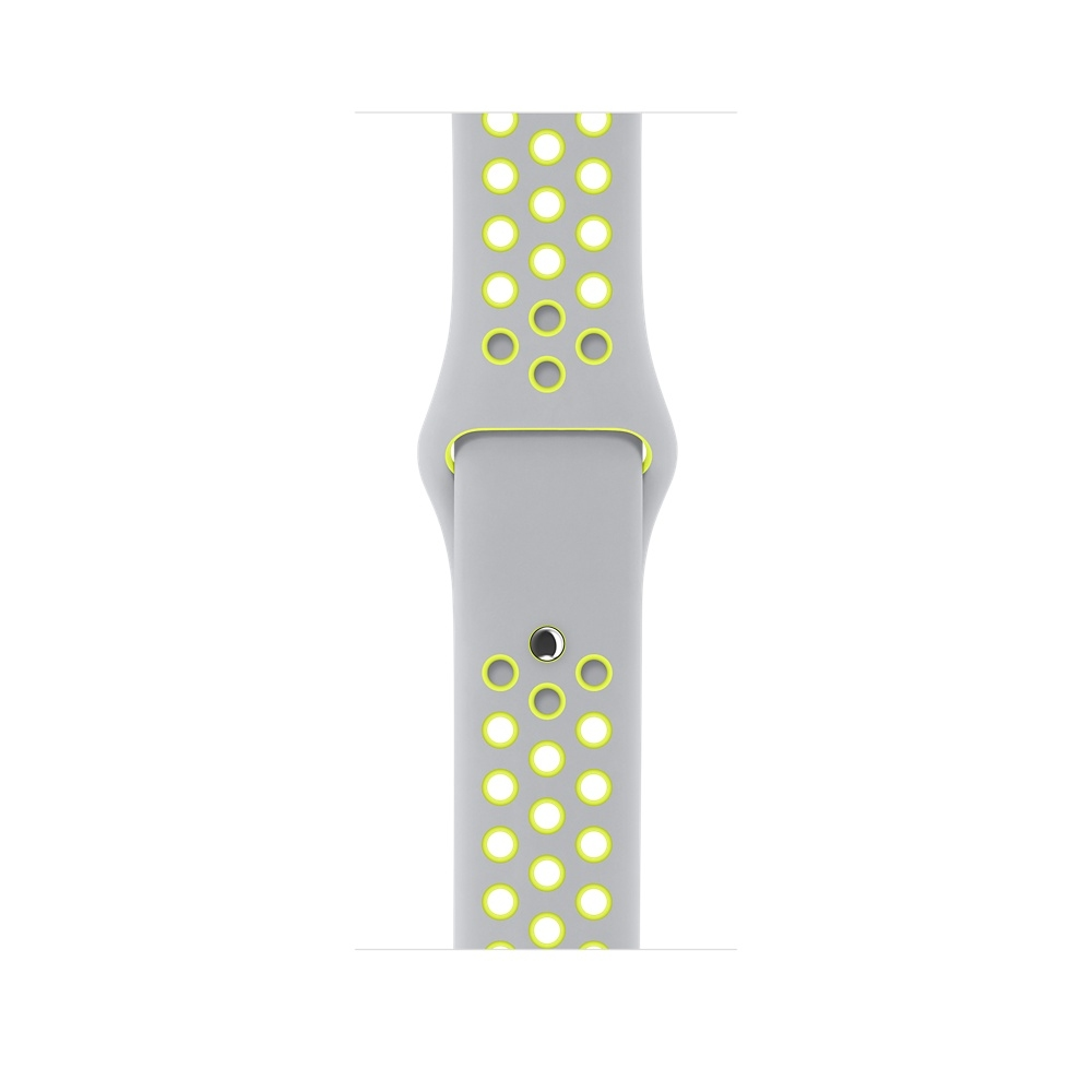 Apple Watch Nike+, 42 mm Silver Aluminum Case with Flat Silver/Volt Nike Sport Band MNYQ2 - 2