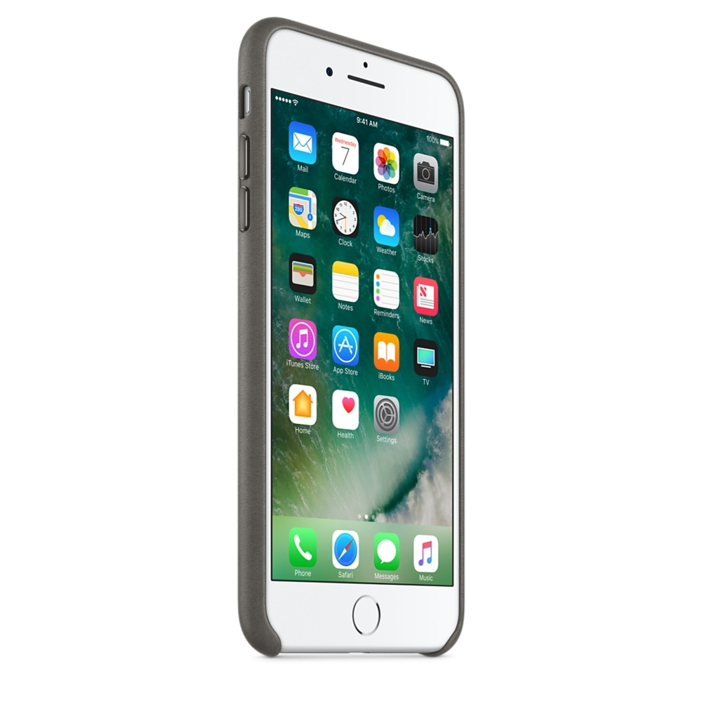 iPhone 7 Plus Leather Case - Storm Gray - 3