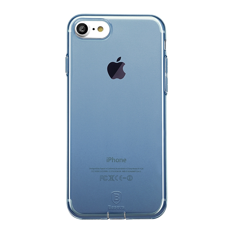 Чехол Baseus Simple Series Case (With-Pluggy) for iPhone 7 Blue - 1