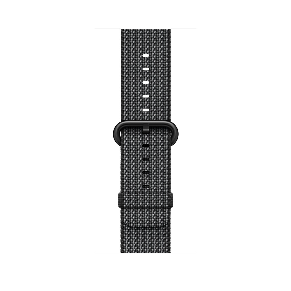 Apple Watch, 42 mm Space Gray Aluminum Case with Black Woven Nylon MP072 - 2