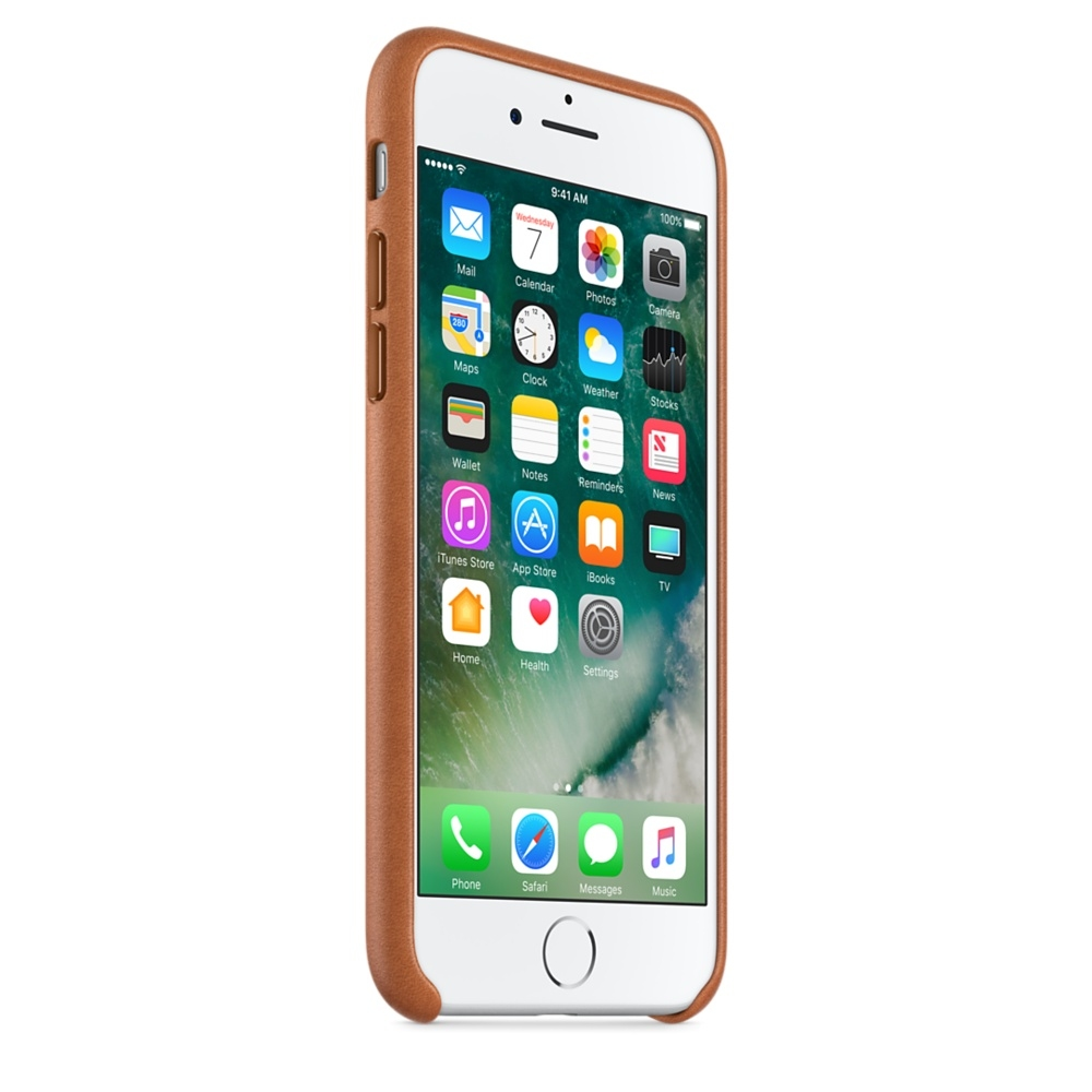 iPhone 7 Leather Case - Saddle Brown - 3