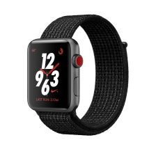 Apple Watch Nike+ GPS + Cellular 42mm Space Gray Aluminum Case with Black/Pure Platinum Sport Loop MQLF2