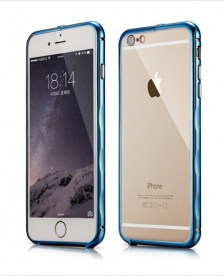 Bumper Xoomz Brushed Aluminium iPhone 6/6S Blue