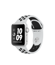 Apple Watch Nike+ Series 3 (GPS) 38mm Silver Aluminum Case with Pure Platinum/Black Nike Sport Band MQKX2