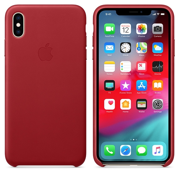 iPhone XS Max Leather Case - (PRODUCT)RED - 1