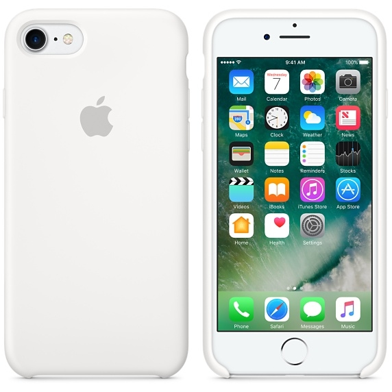 iPhone 7/8 Silicone Case - White - 1