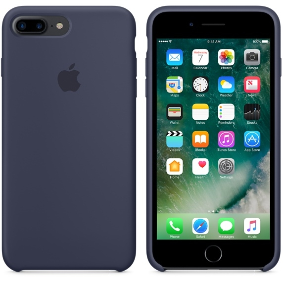 iPhone 7 Plus/8 Plus Silicone Case - Midnight Blue - 2
