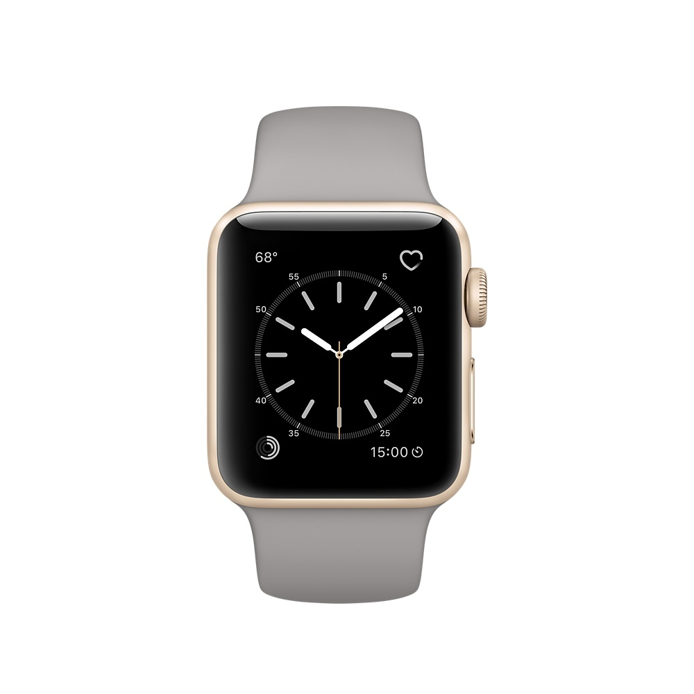 Apple Watch, 38 mm Gold Aluminum Case with Concrete Sport Band MNP22 - 1
