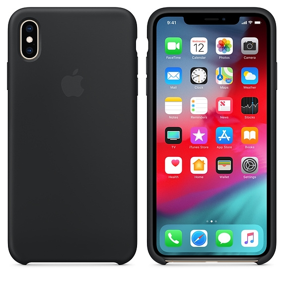 iPhone XS Max Silicone Case - Black - 1
