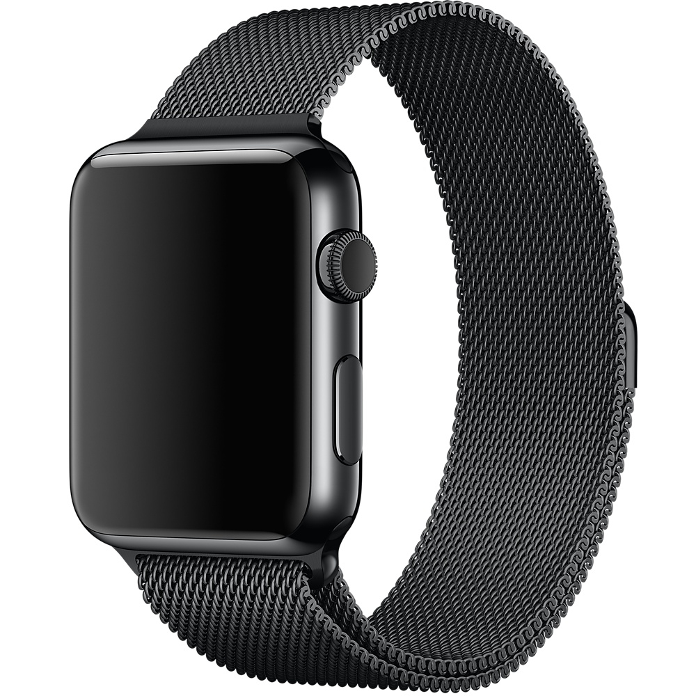 Ремешок Milanese Loop for Apple Watch 38mm Black - 1