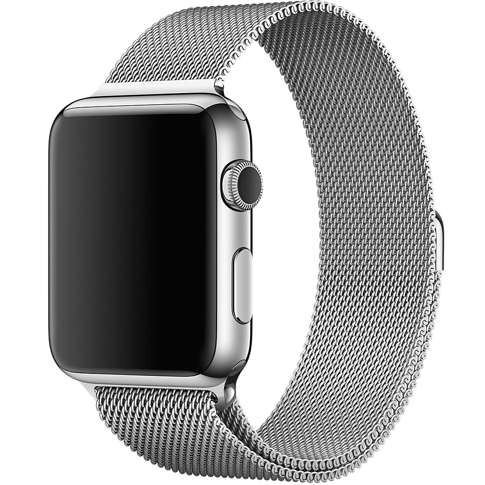 Ремешок Milanese Loop for Apple Watch 38mm Silver - 1