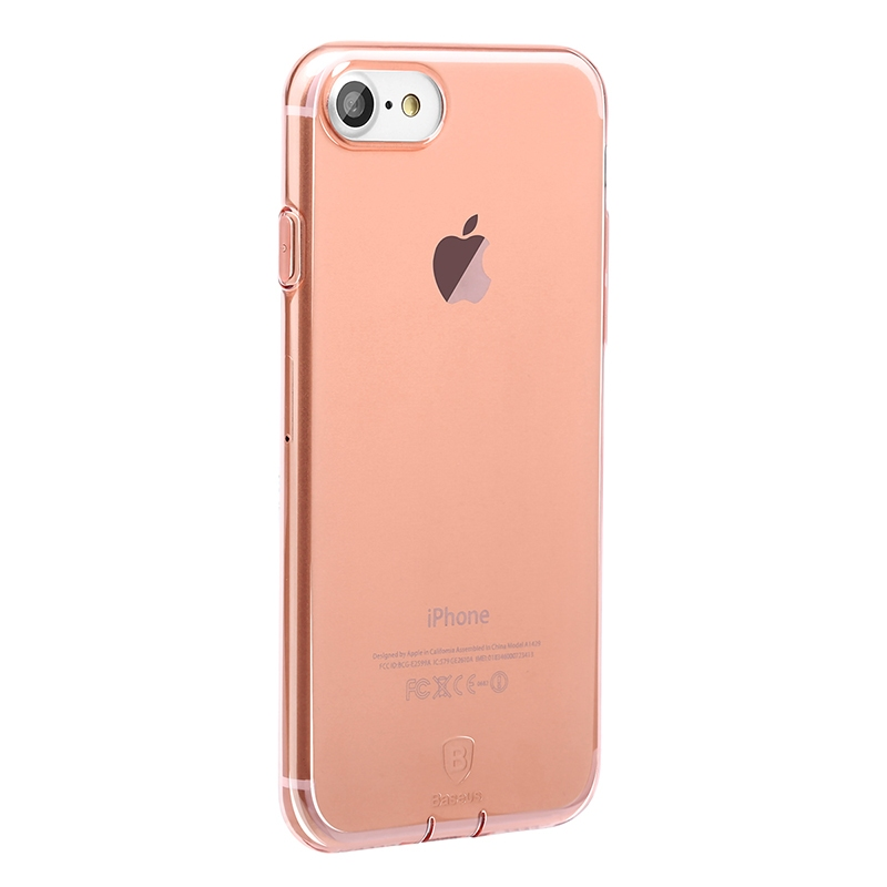 Чехол Baseus Simple Series Case (With-Pluggy) for iPhone 7 Plus/8 Plus Rose gold - 2