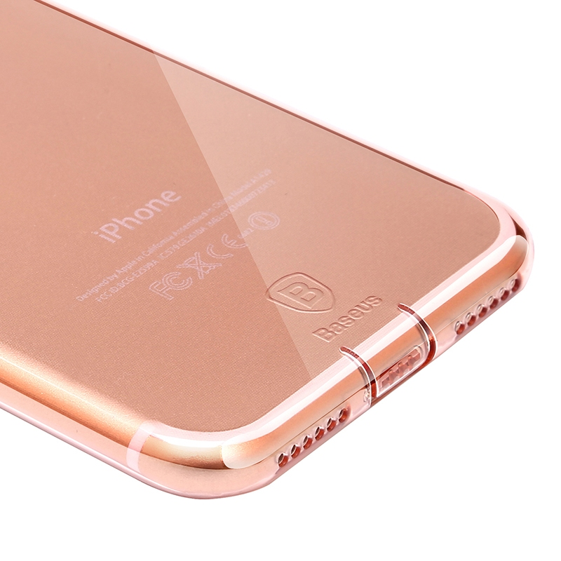 Чехол Baseus Simple Series Case (With-Pluggy) for iPhone 7 Plus/8 Plus Rose gold - 4