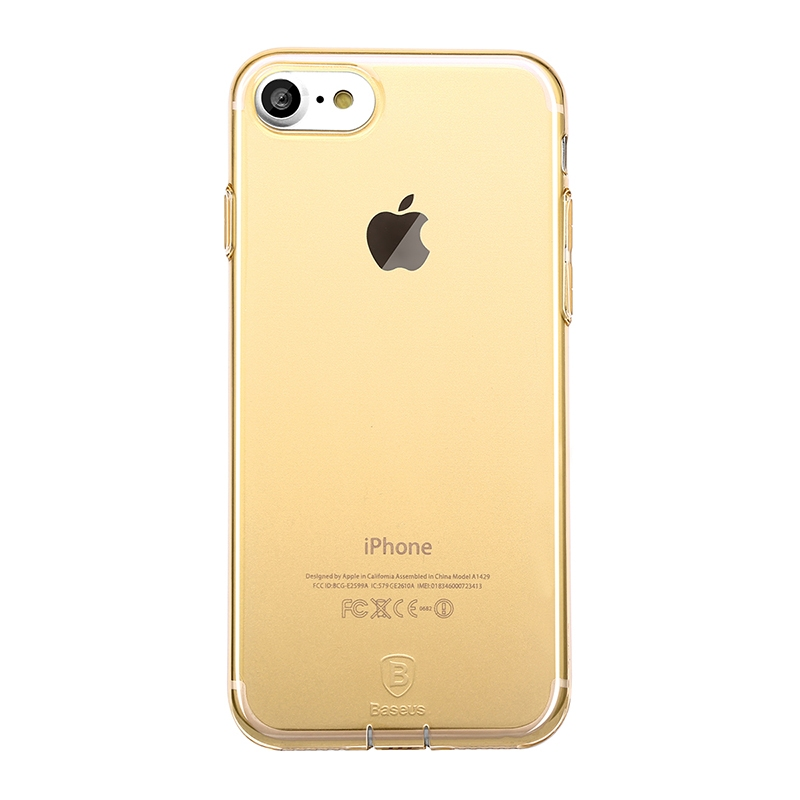 Чехол Baseus Simple Series Case (With-Pluggy) for iPhone 7 Plus/8 Plus Gold - 1