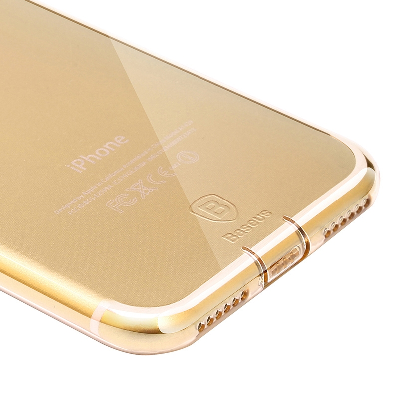 Чехол Baseus Simple Series Case (With-Pluggy) for iPhone 7 Plus/8 Plus Gold - 3
