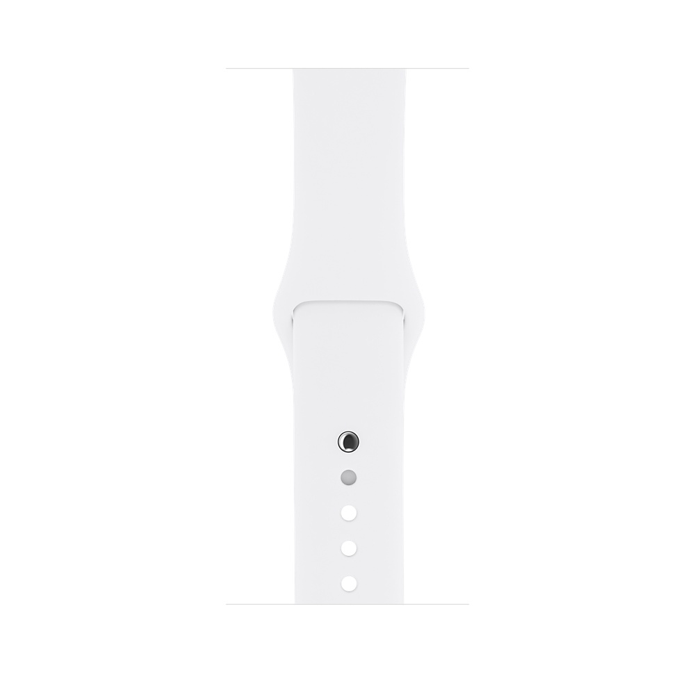 Apple Watch,  38mm Silver Aluminum Case with White Sport Band MNNG2 - 2