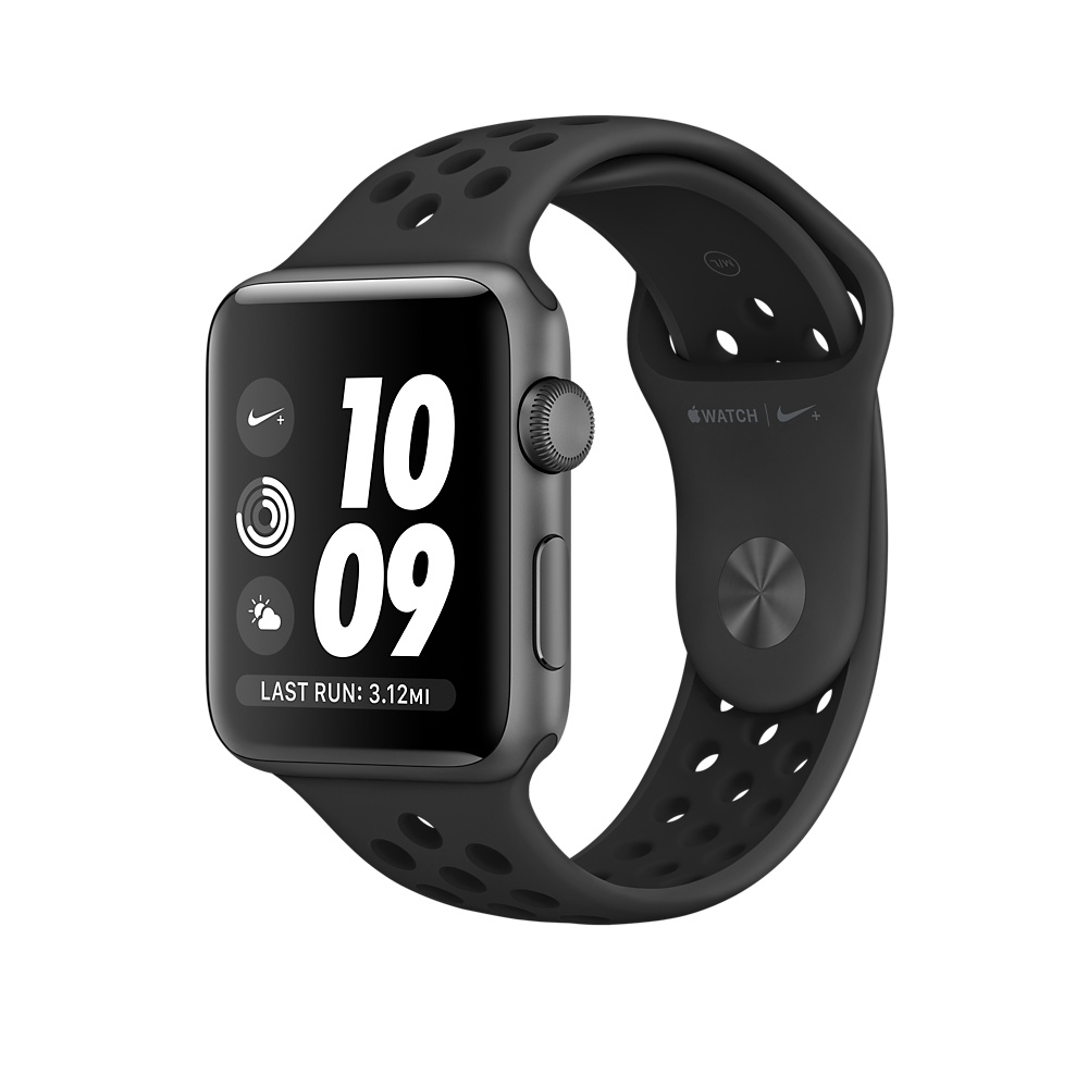 Apple Watch Nike+ 42 mm Space Gray Aluminum Case with Anthracite/Black Nike Sport Band (MQ182) - 1