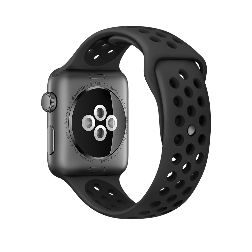 Apple Watch Nike+ 42 mm Space Gray Aluminum Case with Anthracite/Black Nike Sport Band (MQ182) - 3