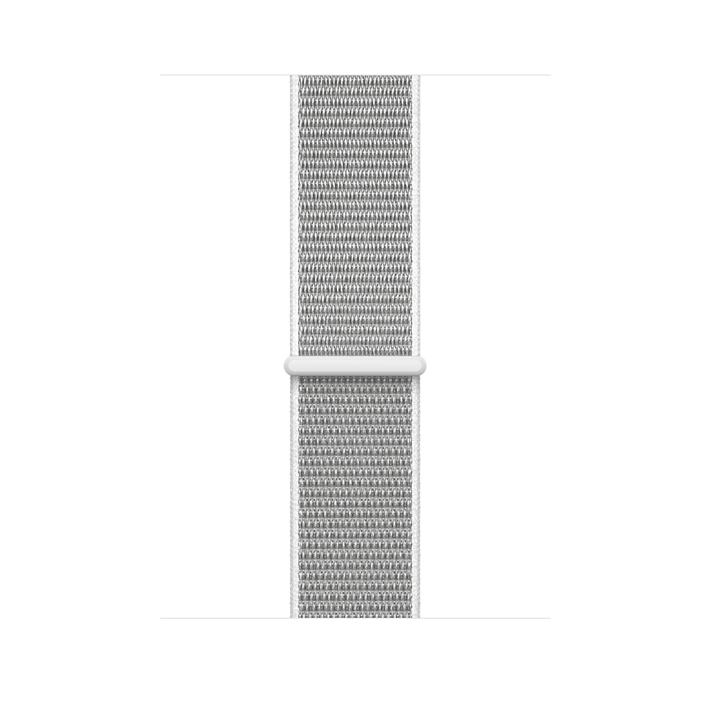 Apple Watch GPS + Cellular 38mm Silver Aluminum Case with Seashell Sport Loop MQJR2 - 2