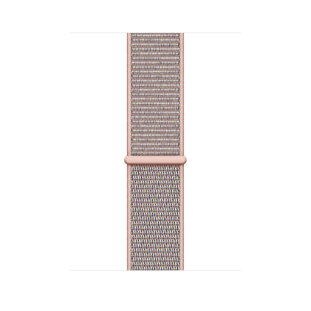 Apple Watch GPS + Cellular 44mm Gold Aluminum Case with Pink Sand Sport Loop (MTVX2) - 2