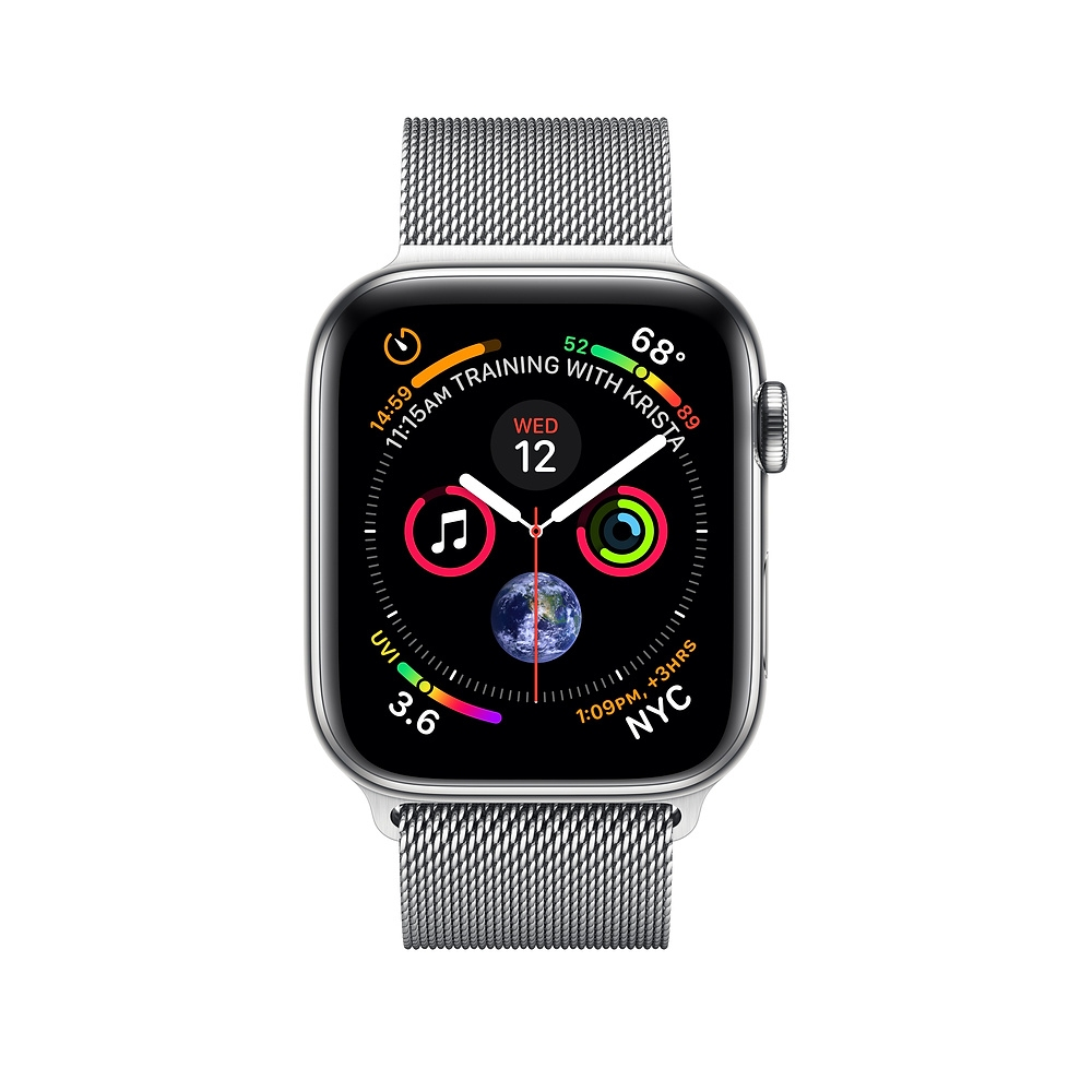 Apple Watch GPS + Cellular 44mm Stainless Steel Case with Milanese Loop (MTX12) - 1