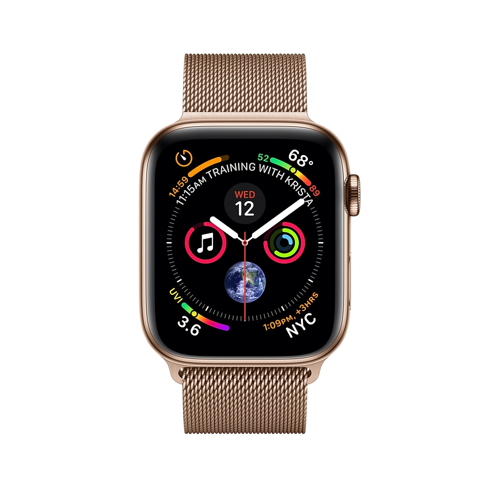 Apple Watch GPS + Cellular 44mm Gold Stainless Steel Case with Gold Milanese Loop (MTX52) - 1