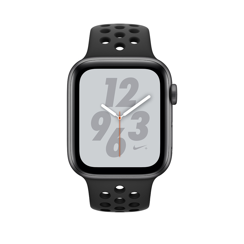 Apple Watch Nike+ Series 4 (GPS) 44mm Space Gray Aluminum Case with Anthracite/Black Nike Sport Band (MU6L2) - 1