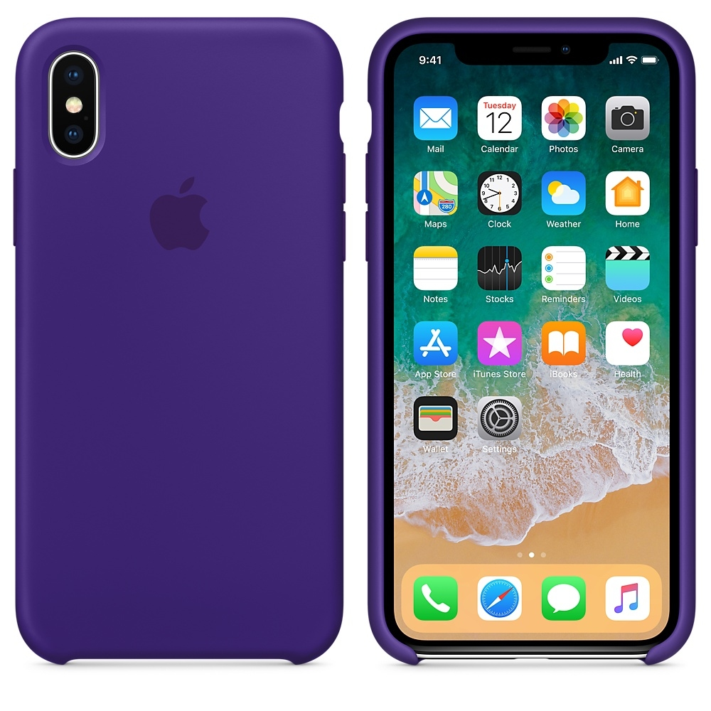 iPhone X Silicone Case - Ultra Violet - 1