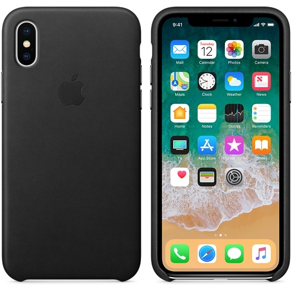 iPhone X Leather Case - Black - 1
