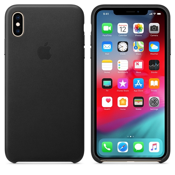 iPhone XS Max Leather Case - Black - 1