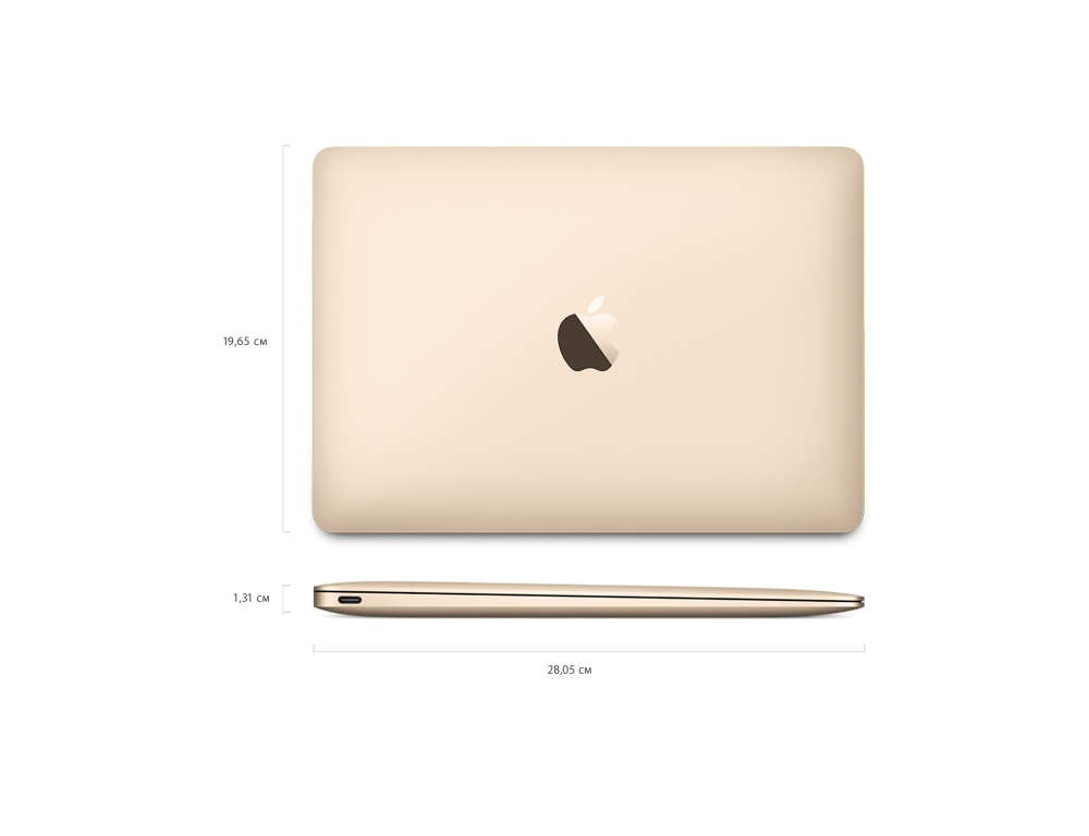 "Apple MacBook 12"" - 512Gb Gold MNYL2 (2017) - 6"