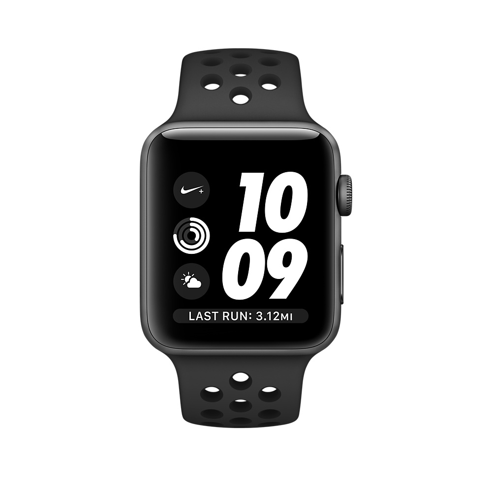 Apple Watch Nike+ 38 mm Space Gray Aluminum Case with Anthracite/Black Nike Sport Band (MQ162) - 2