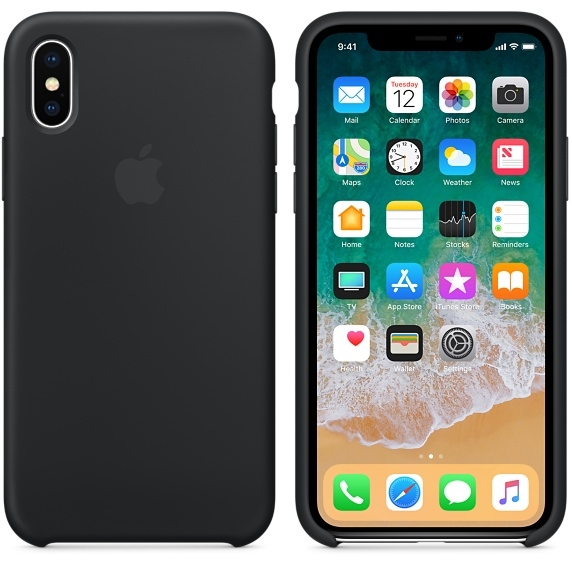 iPhone X\Xs Silicone Case - Black - 1
