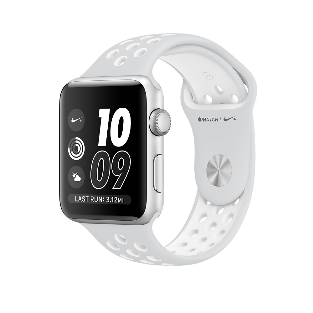 Apple Watch Nike+ 42 mm Silver Aluminum Case with Pure Platinum/White Nike Sport Band (MQ192) - 1