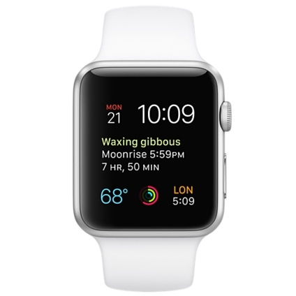 Apple Watch Sport 42mm Silver Aluminum Case with White Sport Band MJ3N2 - 1