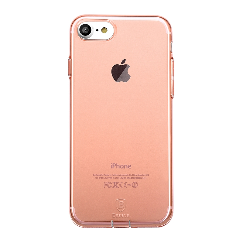 Чехол Baseus Simple Series Case (With-Pluggy) for iPhone 7/8 Rose gold - 1