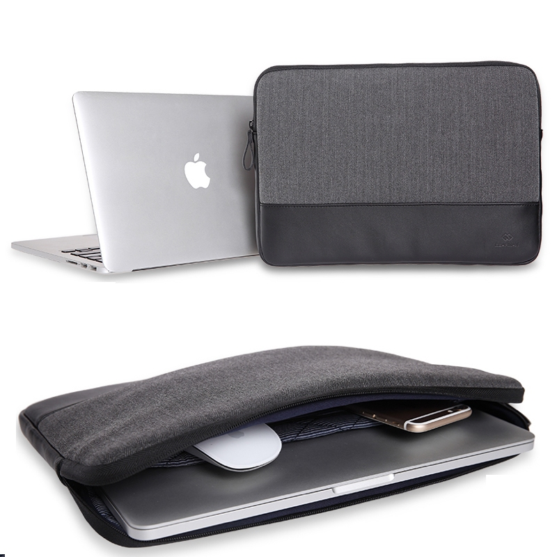 "Чехол-конверт WIWU London Sleeve для MacBook 12"" Black - 2"