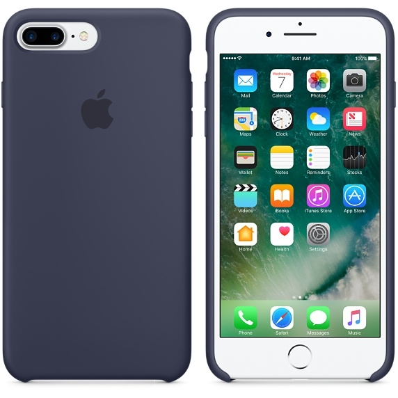 iPhone 7 Plus/8 Plus Silicone Case - Midnight Blue - 1