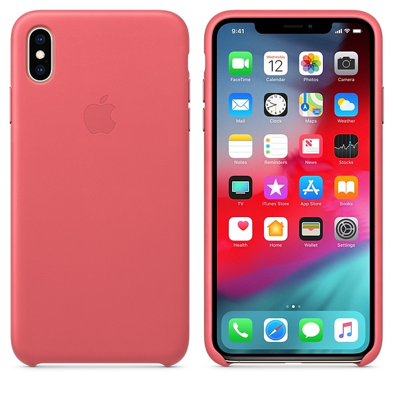 iPhone XS Max Leather Case - Peony Pink - 1