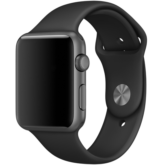 Apple Black with Steel Pin Sport Band для Watch 38mm - 1