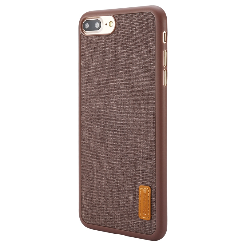 Чехол Baseus Grain Case For iPhone 7 Plus/8 Plus Brown - 1