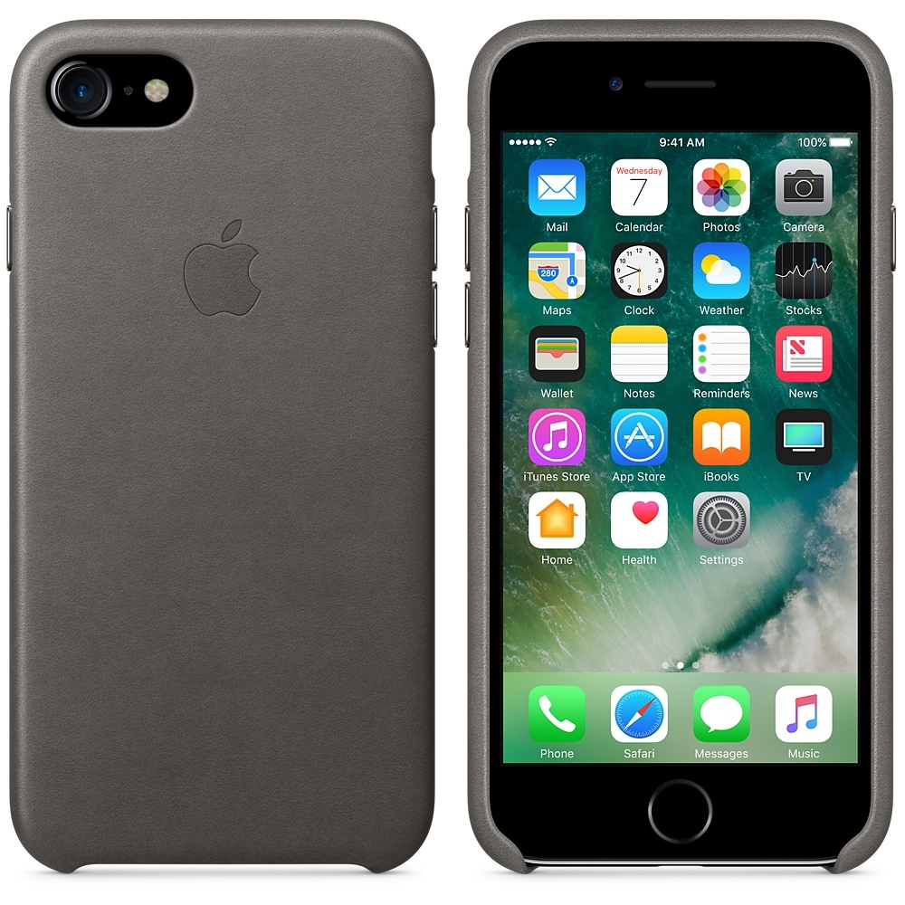 iPhone 7/8 Leather Case - Storm Gray - 2