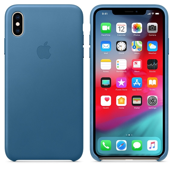 iPhone XS Max Leather Case - Cape Cod Blue - 1